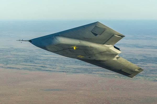 British semi-autonoumous warplane Taranis in flight. Photo: Chris Ryding, BAE Systems