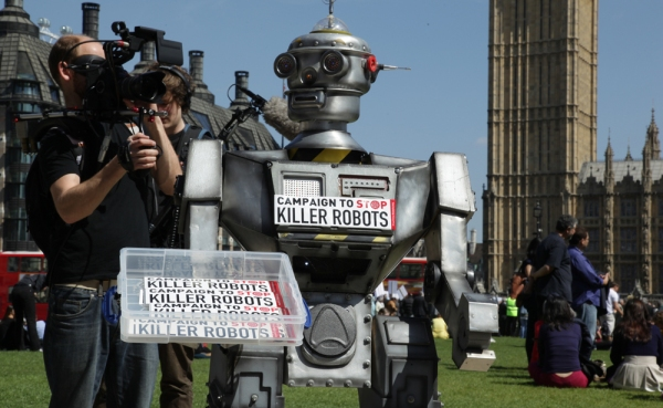 From the launch of the Campaign to Stop Killer Robots. Photo: Sharron Ward for the Campaign to Stop Killer Robots (CCANC).